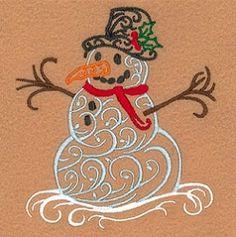 Snowman clipart filigree Starbird 5x7 Embroidery Designs Snowman