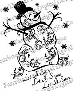 Snowman clipart filigree Snowman SVG/ for use Filigree