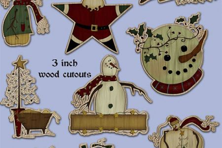 Snowman clipart folk art Primitive Art christmas Folk primitive