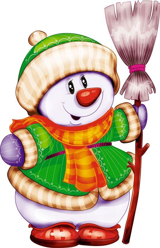 Snowman clipart folk art ClipartChristmas best Андрей 353 (Рисунки
