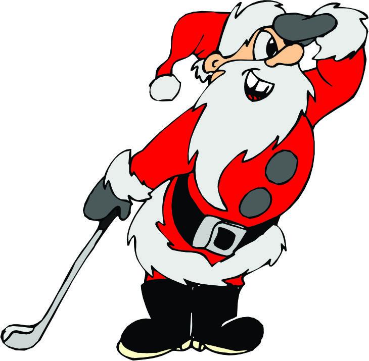 Snowman clipart golfing  Christmas Clipart santa Santa