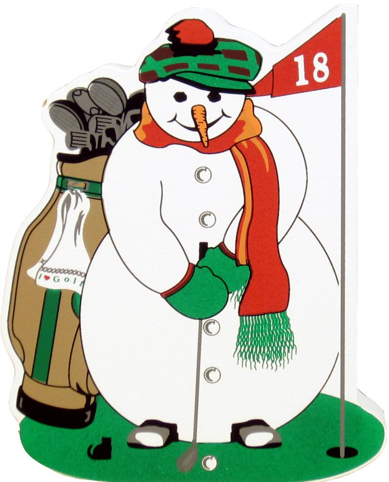 Snowman clipart golfing The Village Snowman Golfing Snowman