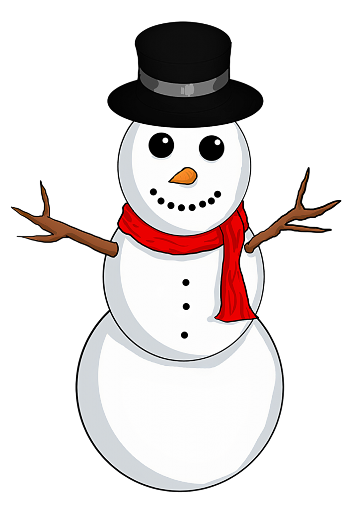 Snowman clipart golfing Resolution In New Christmas Snowman