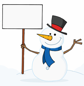 Snowman clipart happy Free Free Holding Clip Art