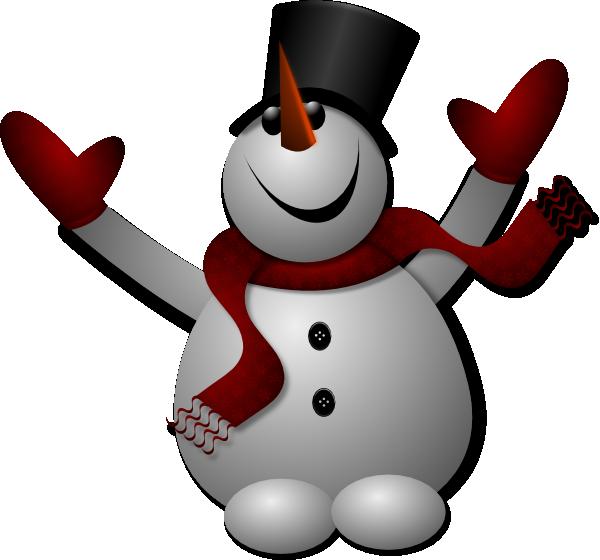 Snowman clipart happy Clip Download image as: Clip