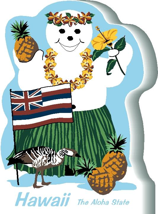 Snowman clipart hawaiian In and Hawaii handcrafted Cat's