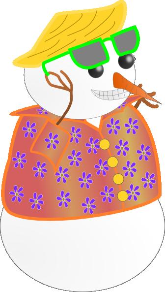 Snowman clipart hawaiian Clip clip image Clker com