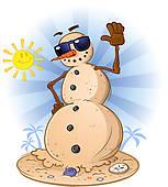 Snowman clipart hawaiian Cartoon GoGraph · Art Royalty