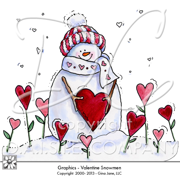 Hearts clipart snowman Graphics Printables Heart and Snowmen
