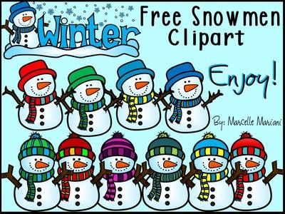 Snowman clipart high resolution Free CLIPART WHITE from KinderPrep
