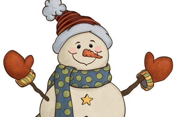 Snowman clipart holiday Snowman Style Clip Holiday Clip