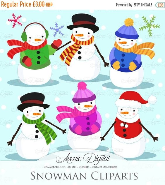 Snowman clipart holiday Clipart man  printables art