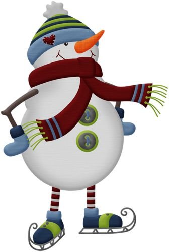 Snowman clipart ice skating CLIPART NAVIDAD KITS / Pinterest