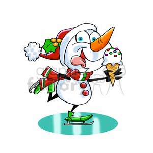 Snowman clipart ice skating Ice ice 393476 cream ice