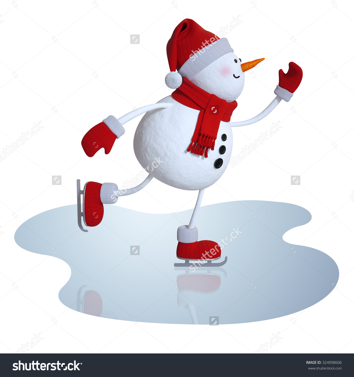 Snowman clipart ice skating D Ice skating snowman (52+)