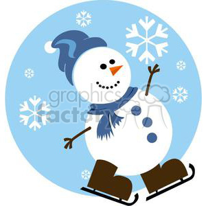 Snowman clipart ice skating Free vector Royalty ice