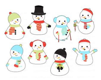 Snowman clipart kawaii Kawaii Cute  Cute Clipart