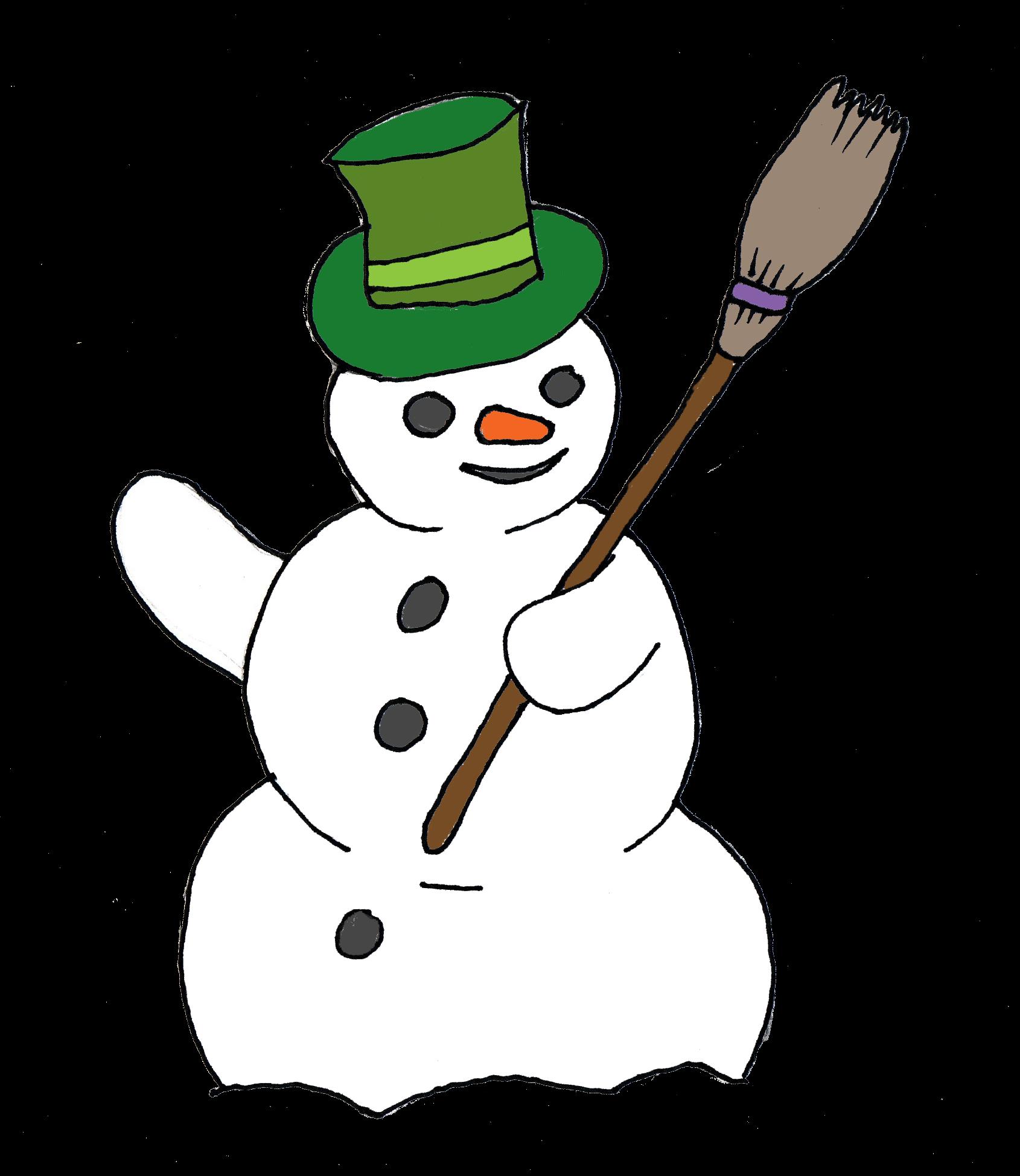 Pencil clipart snowman Man Snow Art Free Clip