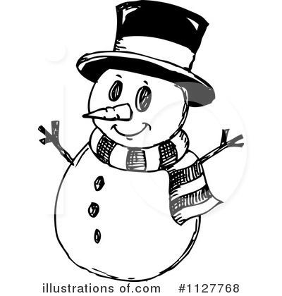 Snowman clipart man Snowman – 101 Black Clip
