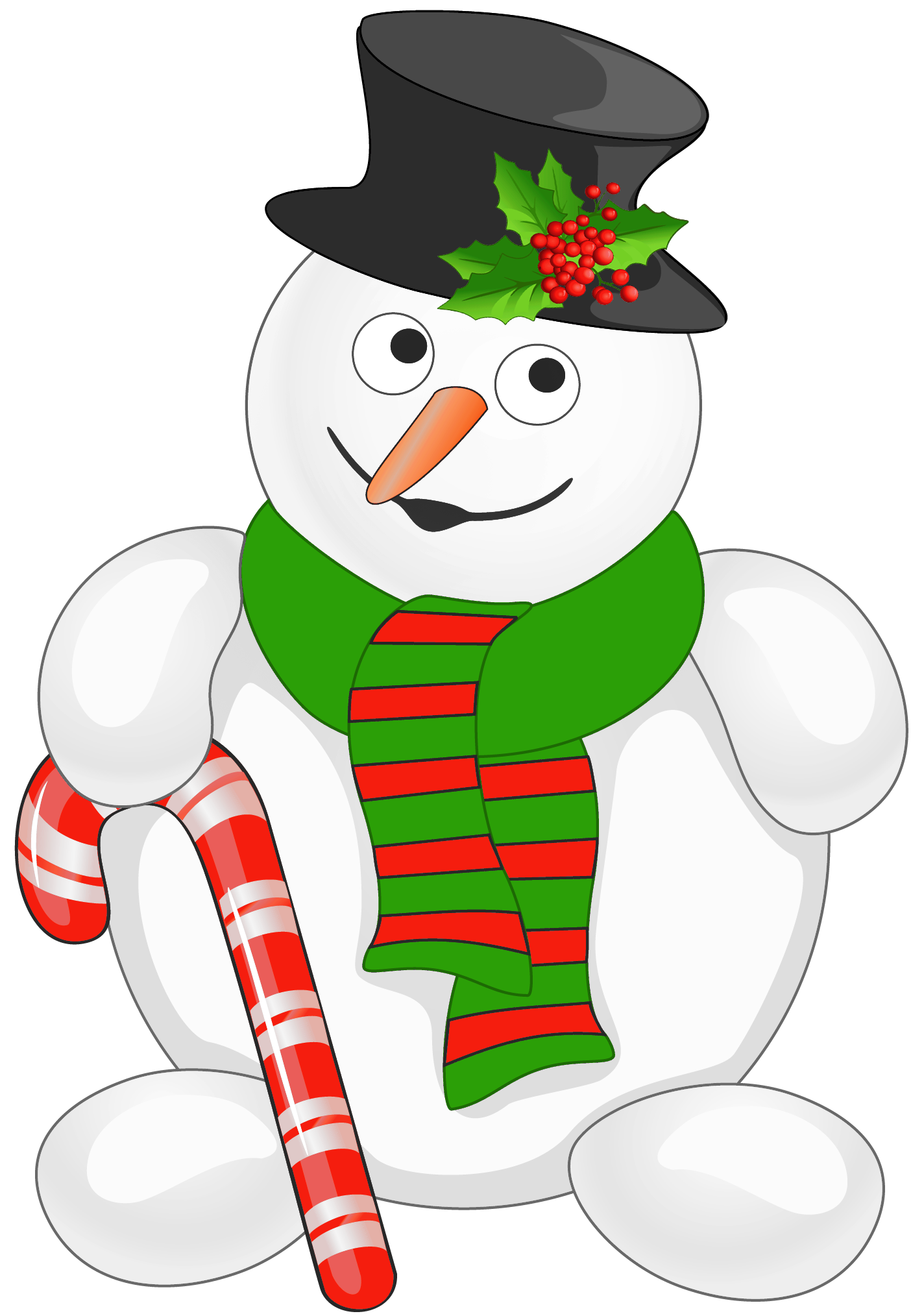 Snowman clipart man Cane  Clip Art Snowman