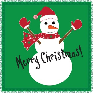 Card clipart christmas card Christmas and Snowman Image with
