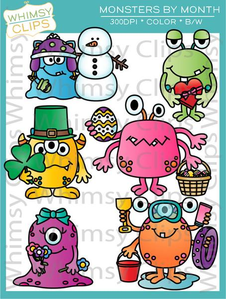 Snowman clipart monster Clip Clips Snowman Monthly Illustrations