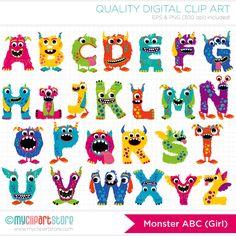 Snowman clipart monster / Art Clip Cute Monster