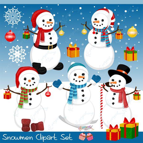 Snowman clipart monster Pinterest Set FUN best Snowmen