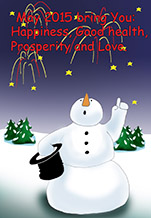 Snowman clipart new year The greeting Year cards Year