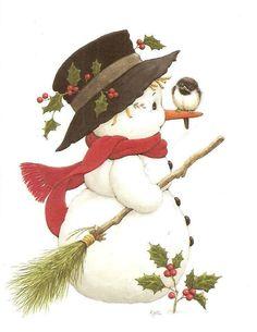 Snowman clipart old fashioned Collection snowman Snowman Decoupage Vintage