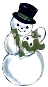 Snowman clipart old fashioned Vintage Art Happy a Clip