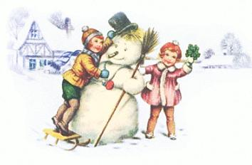 Snowman clipart old fashioned Free snowman Clipart making children