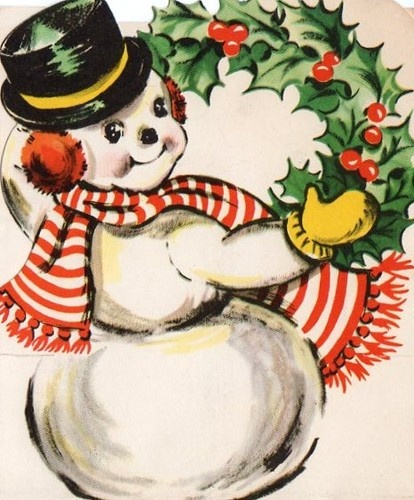 Snowman clipart old fashioned  Vintage about images Pinterest