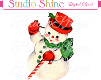 Snowman clipart old fashioned Download Art The Frosty Etsy