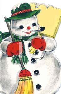 Snowman clipart old fashioned Vintage Art Snowman a Clip