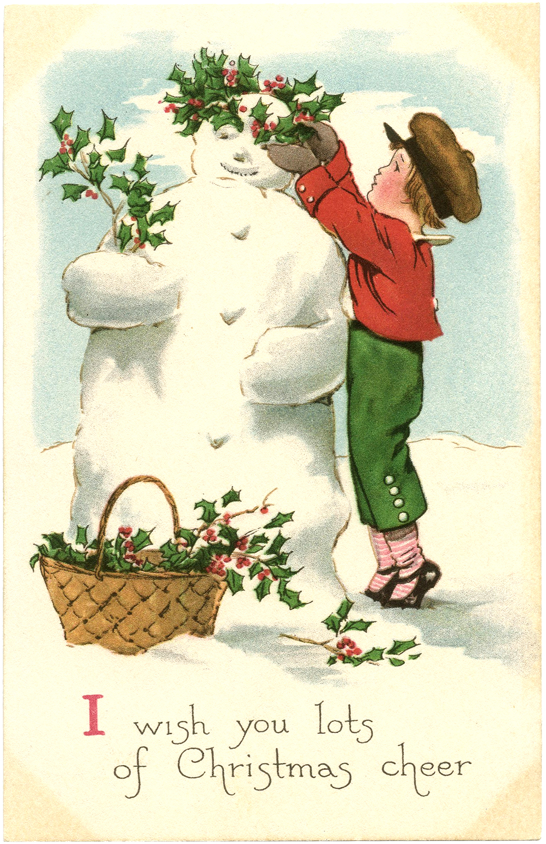 Snowman clipart old fashioned Fairy The Free Image Image