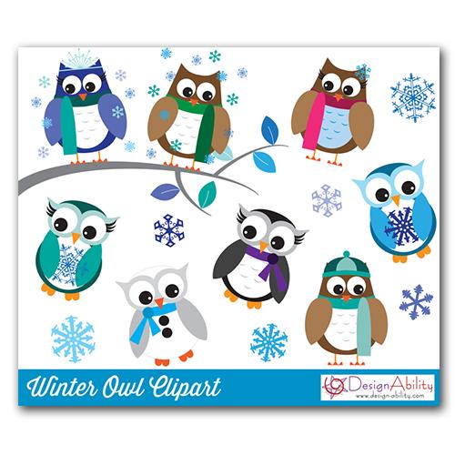 Owl clipart snowman Owls – Owls Winter Clip