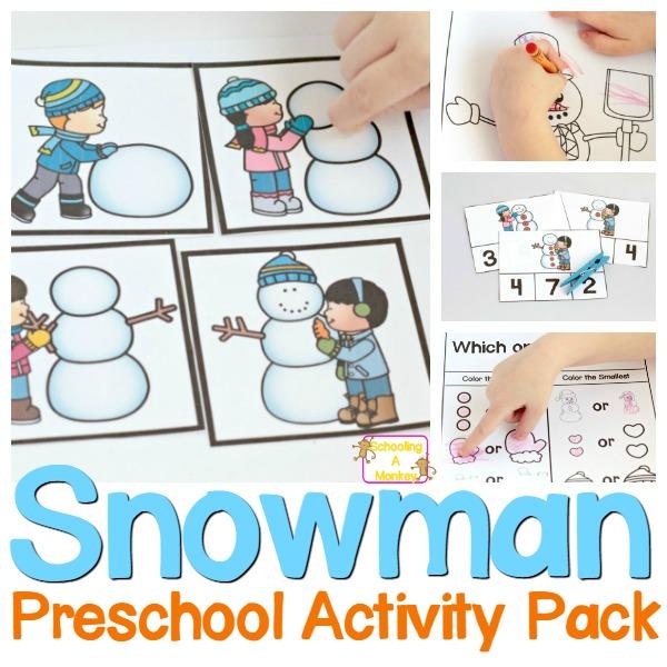 Snowman clipart preschool Time Preschoolers for is No