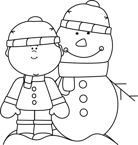 Snowman clipart preschool With and  with and