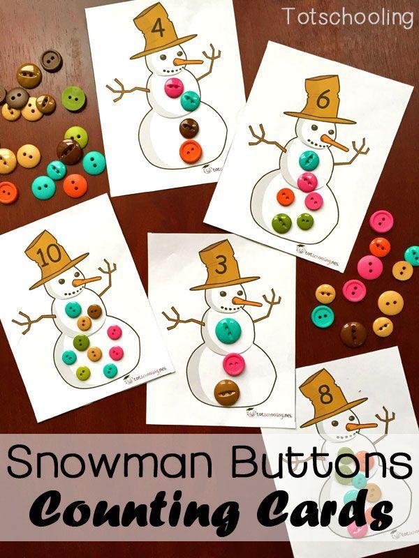 Snowman clipart preschool Activities Free Buttons on
