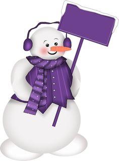 Snowman clipart purple Nieve DISEÑO christmas ZOOM Stick