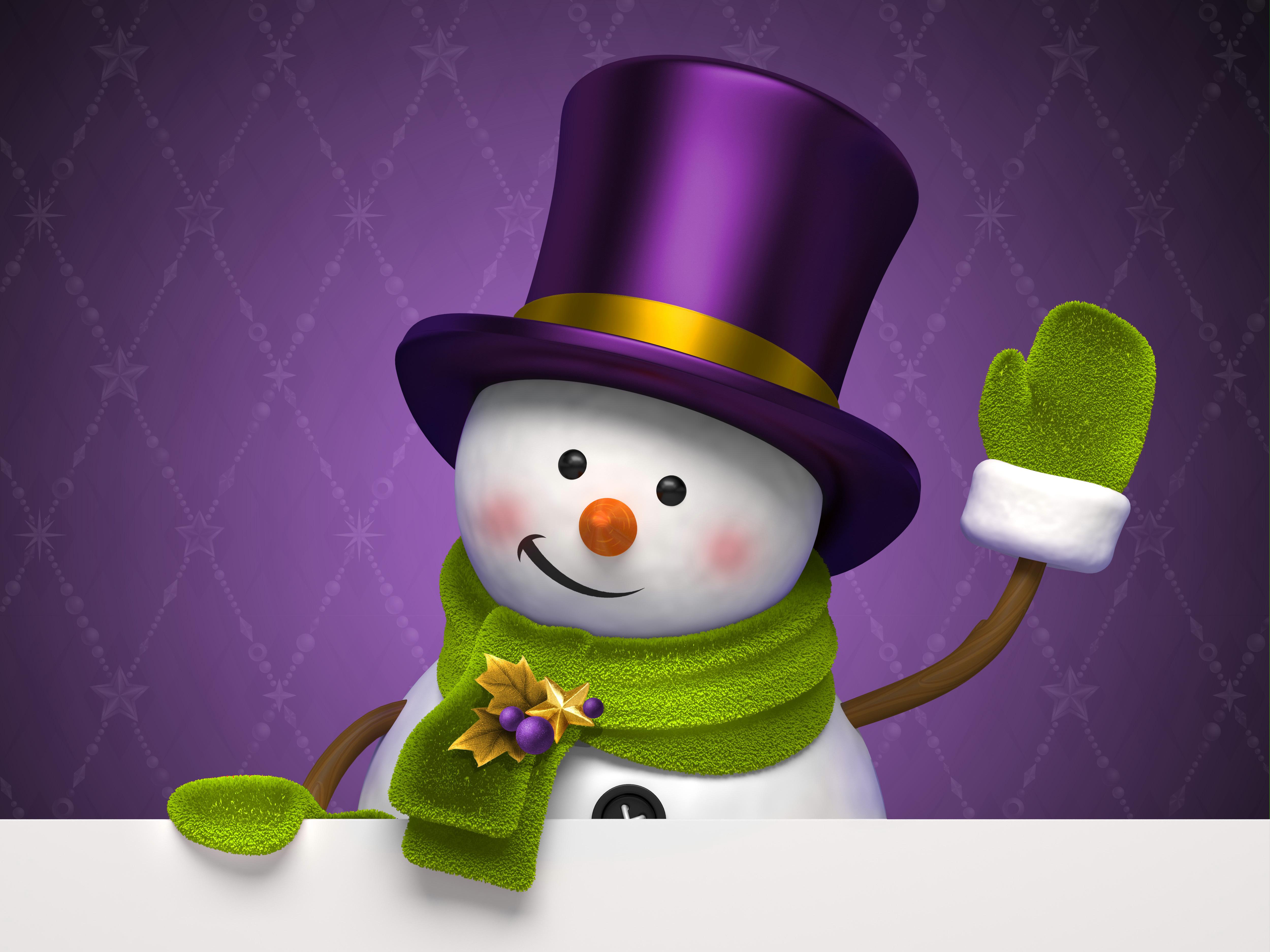 Snowman clipart purple Snowman full Gallery View