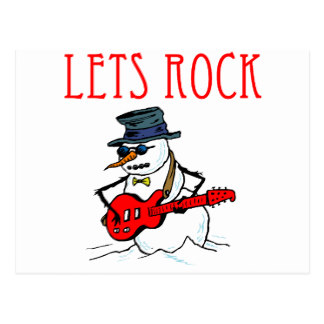 Snowman clipart rock and roll Rock Snowman Roll Gifts Zazzle