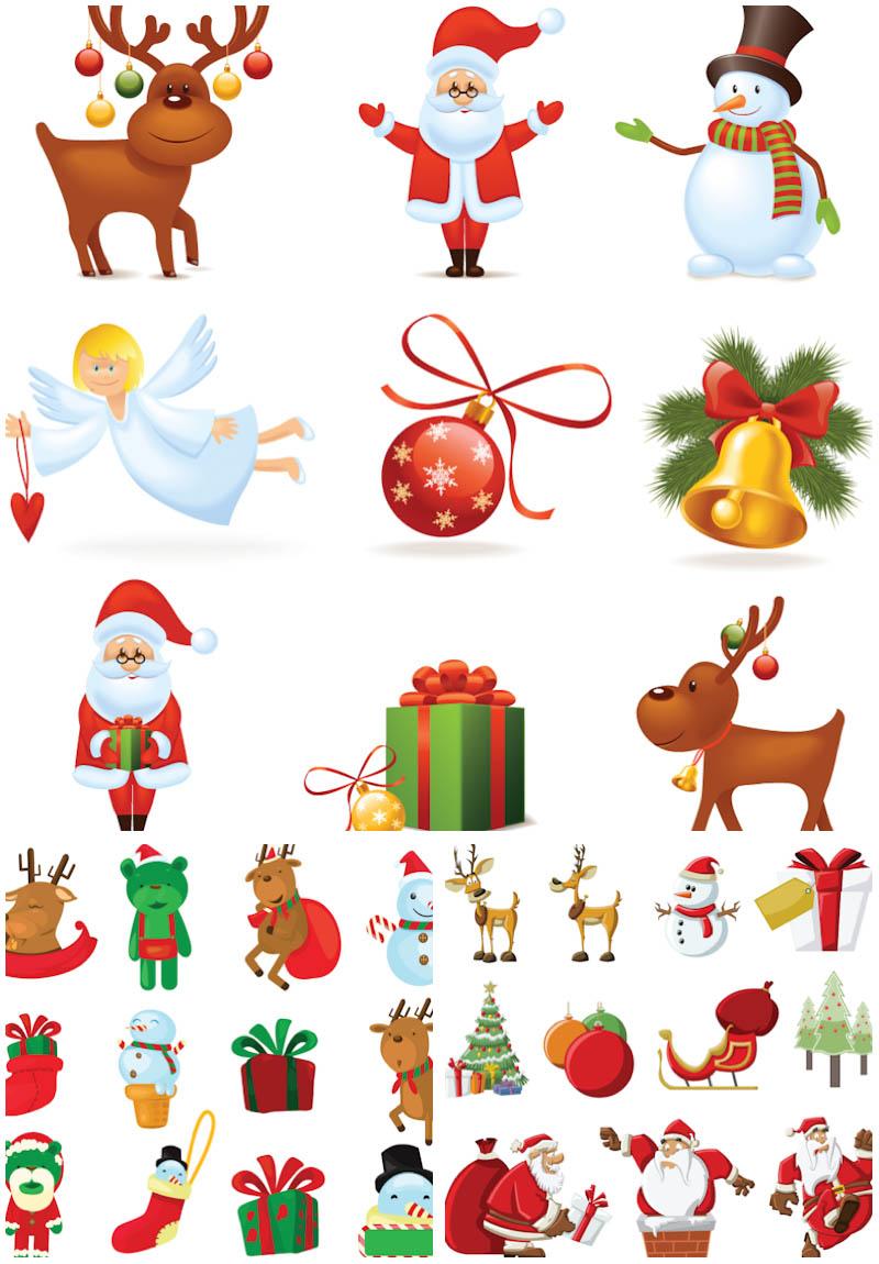 Reindeer clipart presents 3 Santa of 32 3