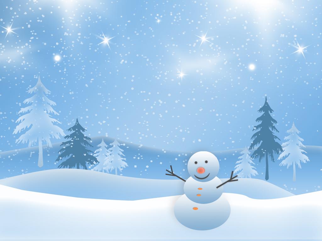 Snowman clipart scene Road Winter Art Download Clipart