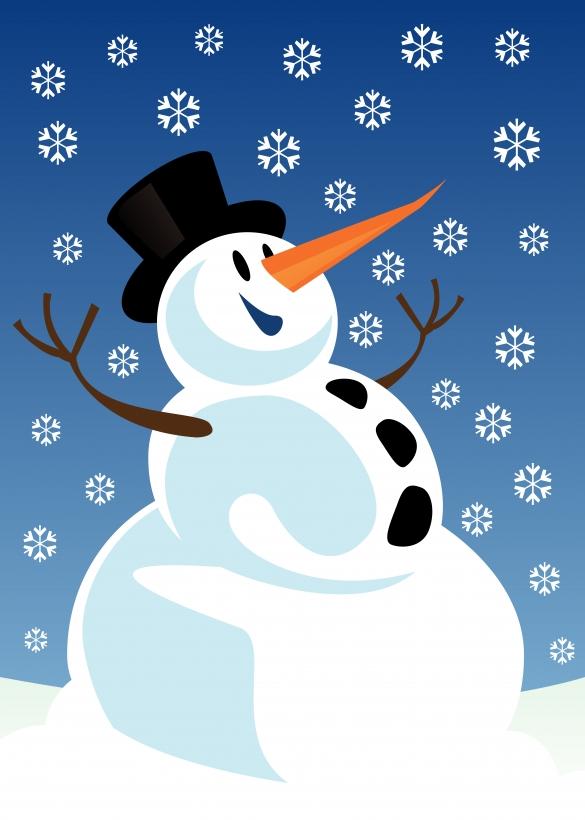 Snowman clipart scene Boards Bulletin Snowman Art Seasonal