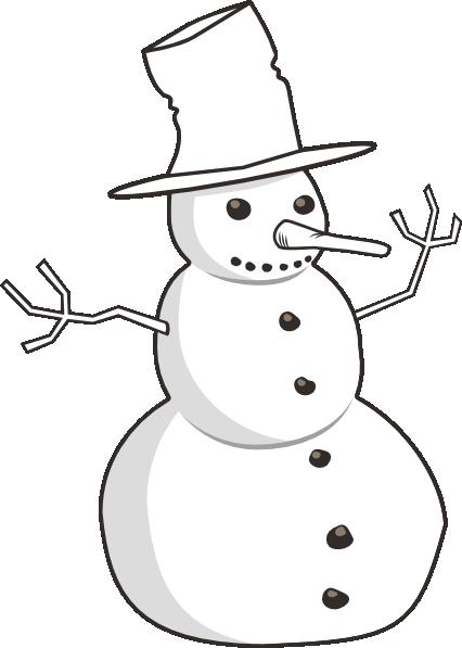 Snowman clipart shadow Com Free clipartsgram Snowman Clip