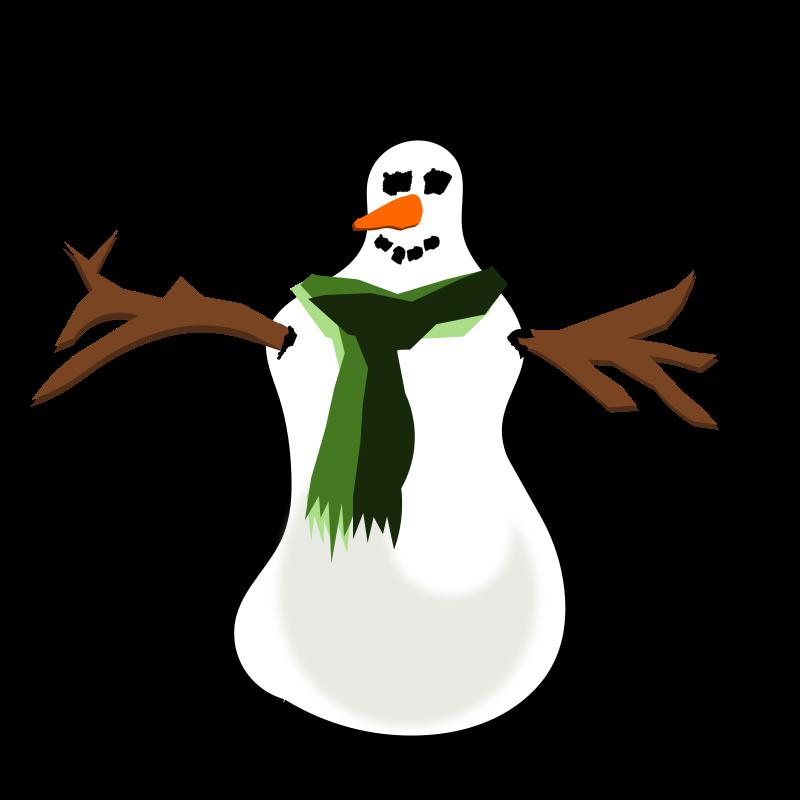 Snowman clipart shadow Clip on Snowman Art Download