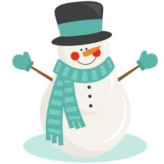 Snowman clipart shadow & for svgs Snowman for