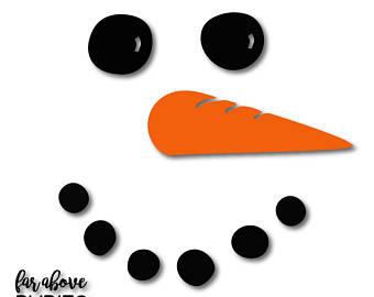 Snowman clipart shadow Jpg Etsy Snowman digital png